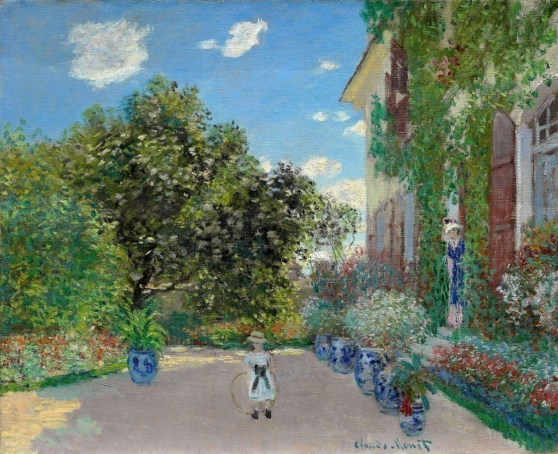 The Artists House at Argenteuil, Claude Oscar Monet
