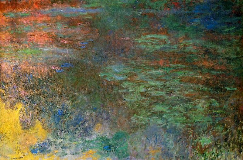 Water Lily Pond, Evening right panel, Claude Oscar Monet