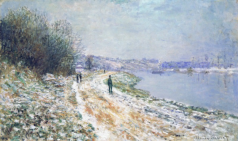 The Tow Path at Argenteuil, Winter, Claude Oscar Monet