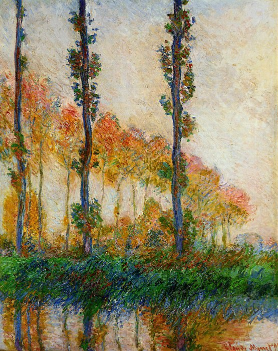 Three Trees in Autumn, Claude Oscar Monet