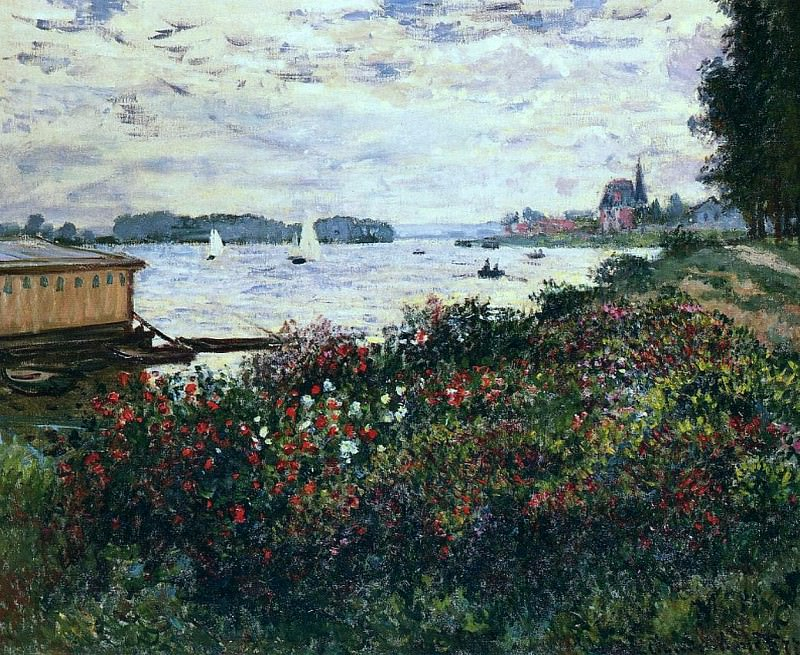 Riverbank at Argenteuil, Claude Oscar Monet