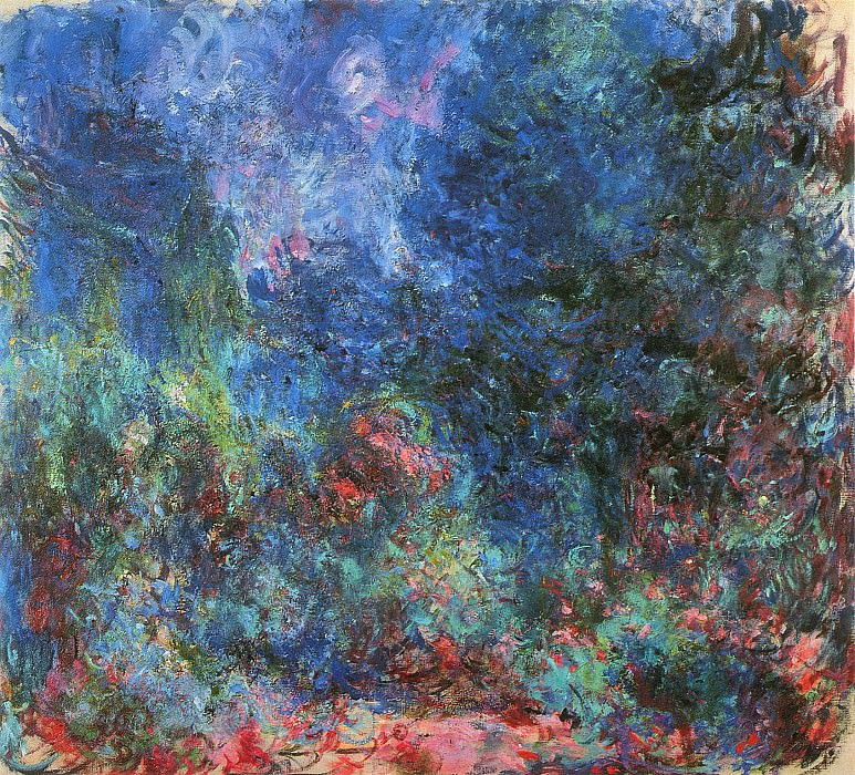 The Artists House, View from the Rose Garden 02, Claude Oscar Monet