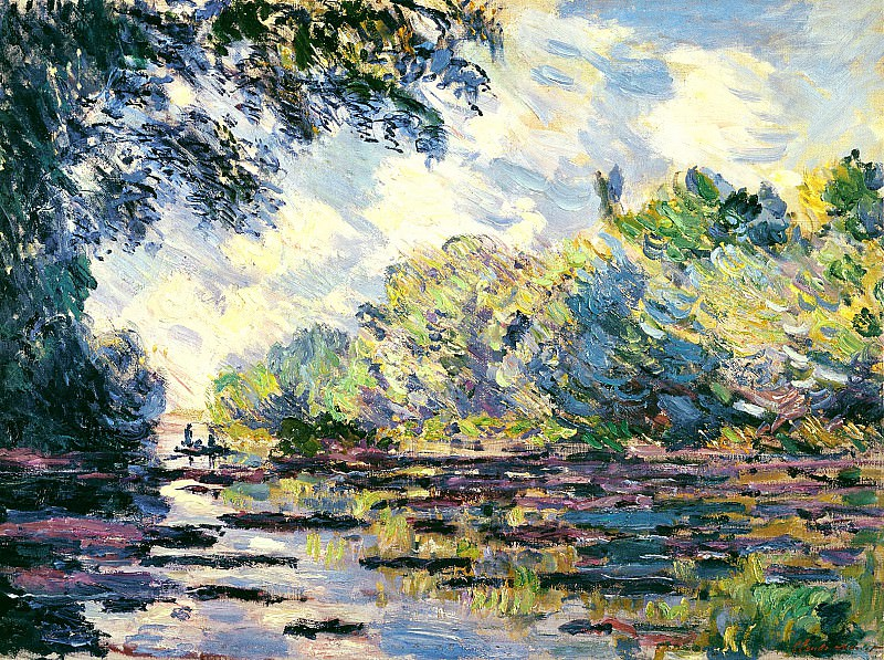 Section of the Seine, near Giverny, Claude Oscar Monet