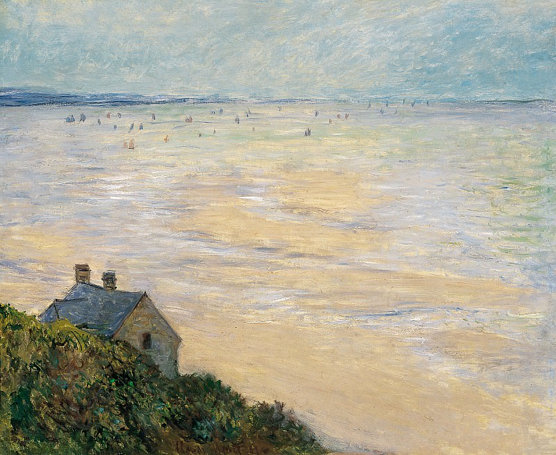 The Hut in Trouville, Low Tide, Claude Oscar Monet