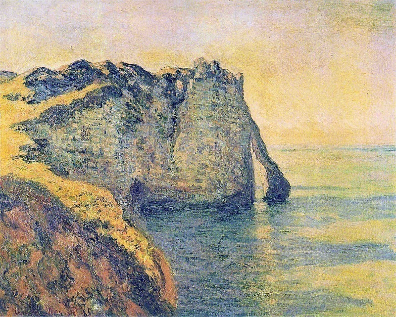 Cliffs of the Porte dAval, Claude Oscar Monet