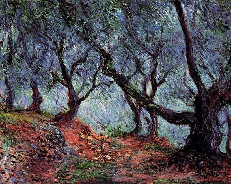 Grove of Olive Trees in Bordighera, Claude Oscar Monet