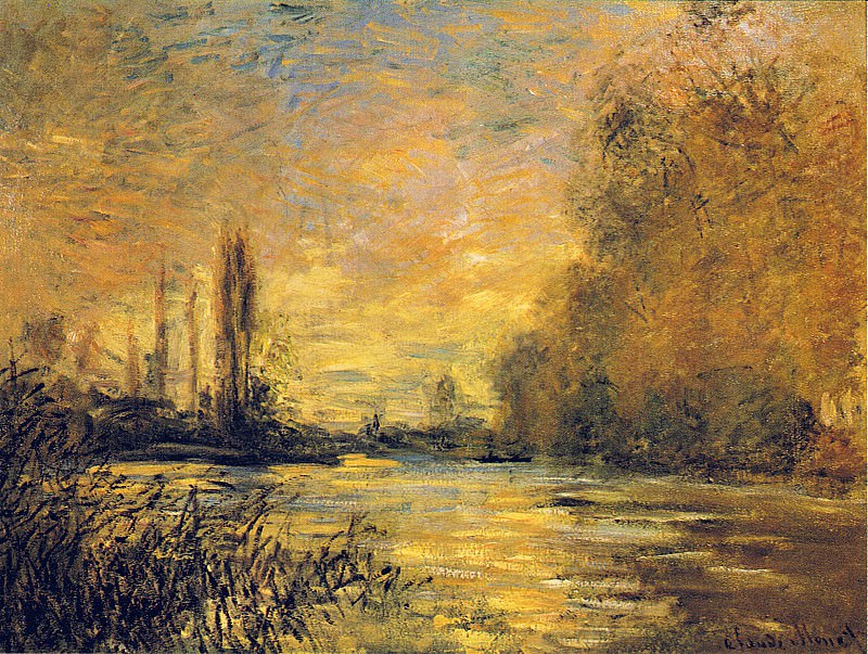 The Small Arm of the Seine at Argenteuil, Claude Oscar Monet