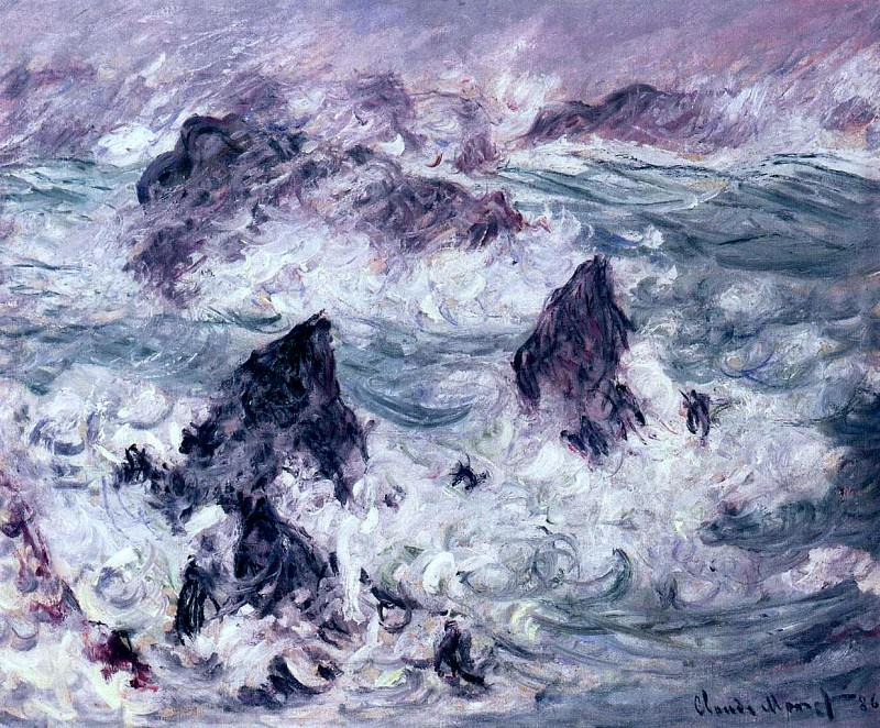 Storm at Belle-Ile, Claude Oscar Monet