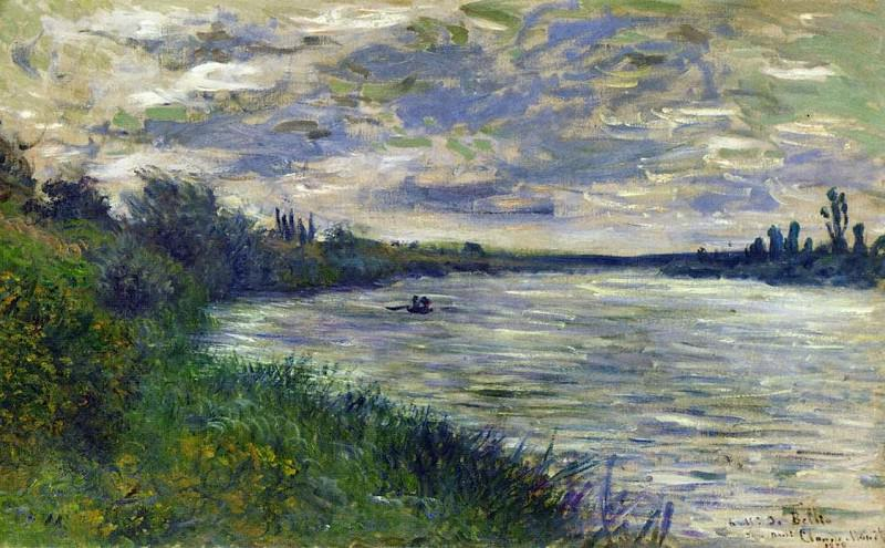 The Seine near Vetheuil, Stormy Weather, Claude Oscar Monet