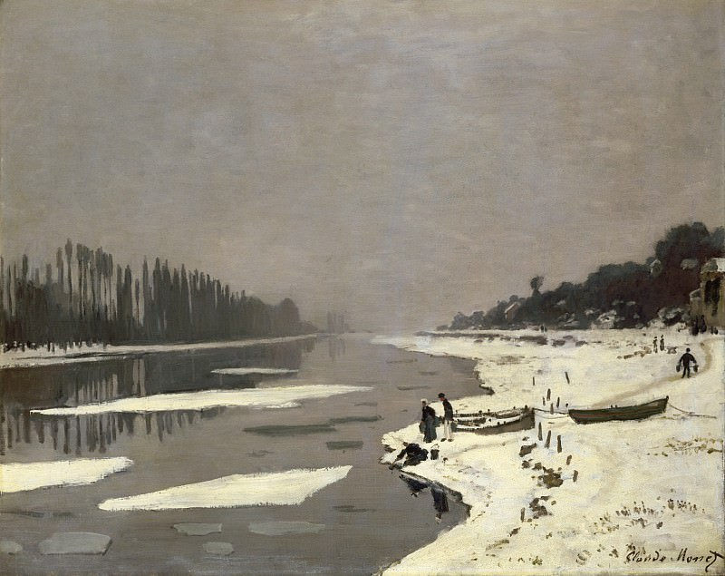 Ice Floes on the Seine at Bougival, Claude Oscar Monet
