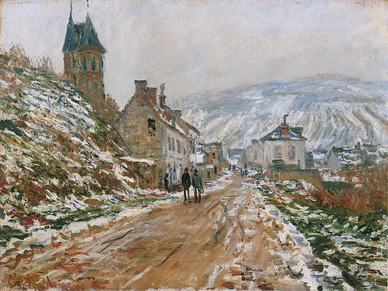 The Road in Vetheuil in Winter, Claude Oscar Monet