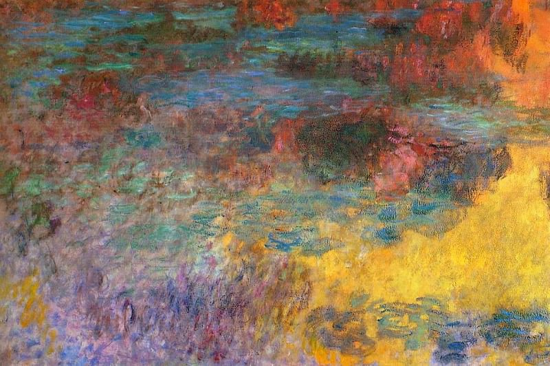 Water Lily Pond, Evening left panel, Claude Oscar Monet