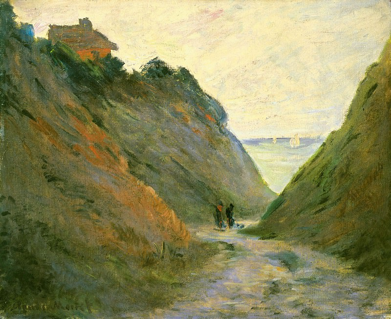 The Sunken Road in the Cliff at Varangeville, Claude Oscar Monet