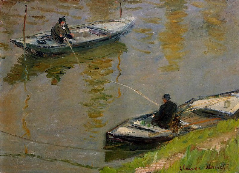 Two Anglers, Claude Oscar Monet