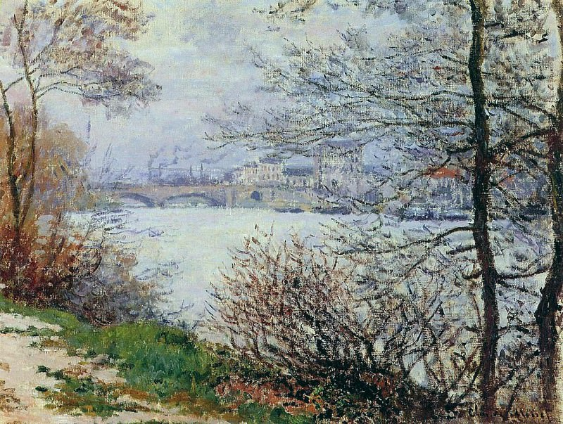 The Banks of the Seine, Ile de la Grande-Jatte, Claude Oscar Monet