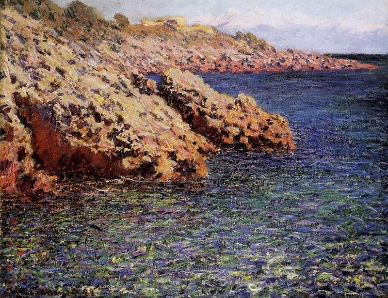 Rocks on the Mediterranean Coast, Claude Oscar Monet