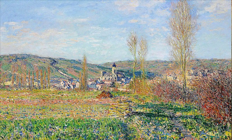 Vetheuil under the Sun, Claude Oscar Monet