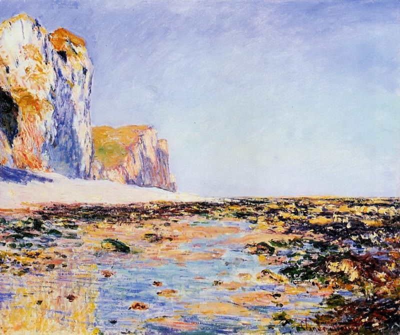 Beach and Cliffs at Pourville, Morning Effect, Claude Oscar Monet