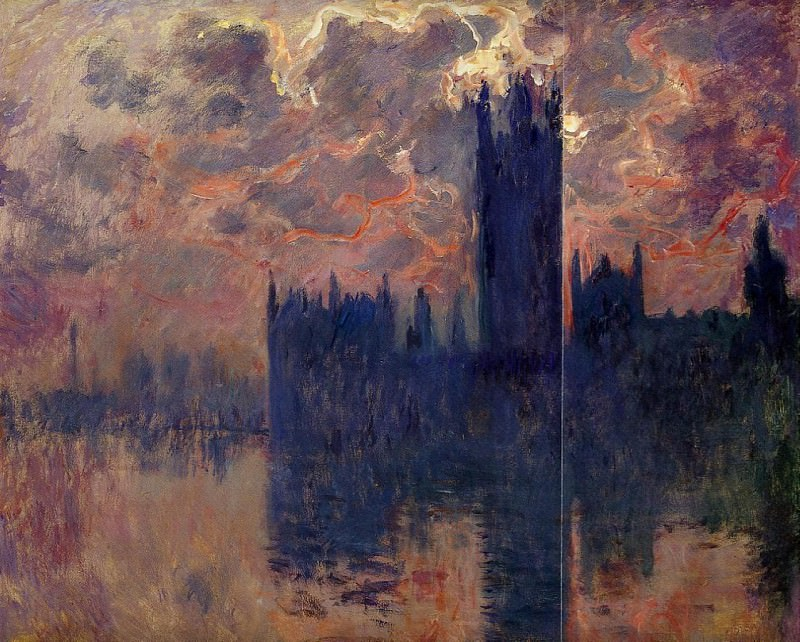 Houses of Parliament, Sunset detail, Claude Oscar Monet
