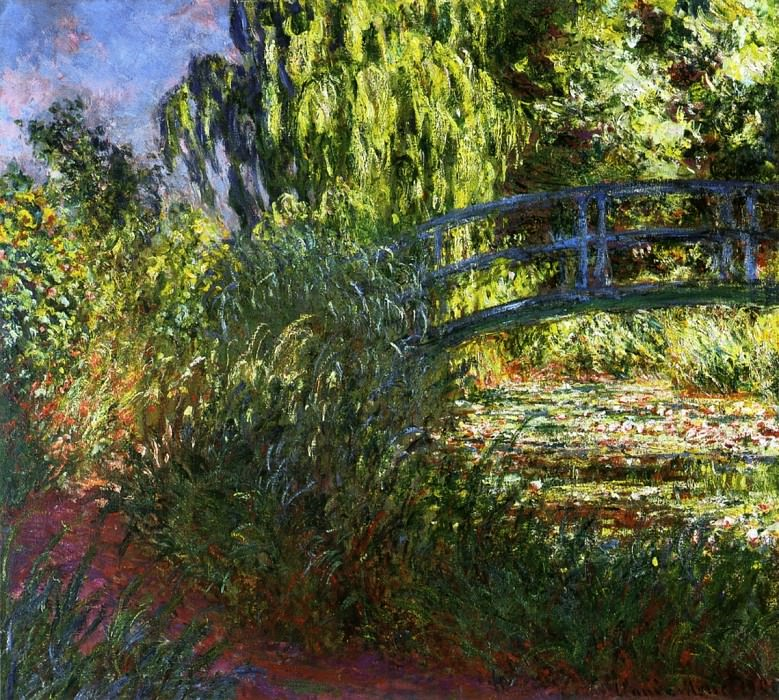 The Japanese Bridge The Water-Lily Pond and Path by the Water, Claude Oscar Monet