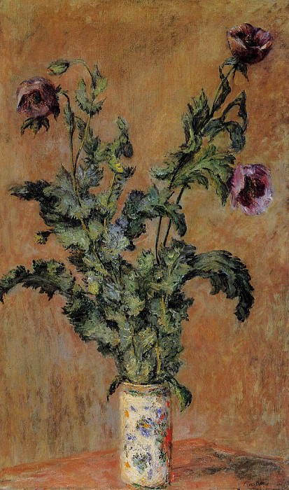 Vase of Poppies, Claude Oscar Monet
