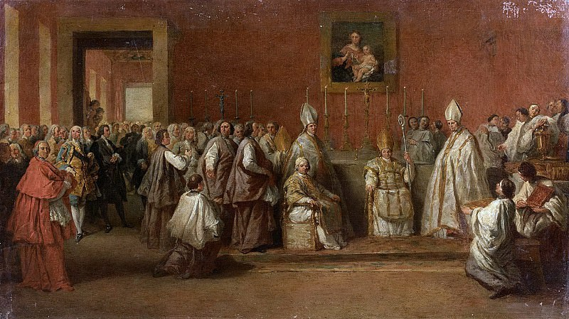 CEREMONY WITH POPE BENEDICT XIV, Giovanni Paolo Panini