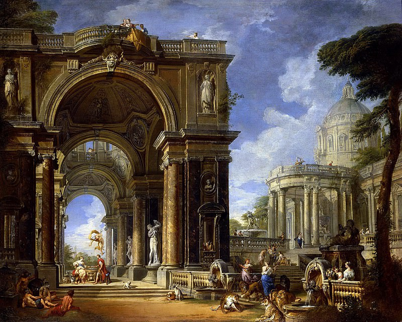 Circe Entertaining Odysseus at a Banquet, Giovanni Paolo Panini