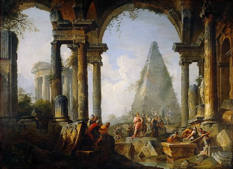Alexander the Great before the tomb of Achilles, Giovanni Paolo Panini