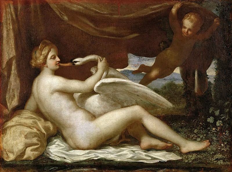 Leda and the Swan attr., Nicolas Poussin