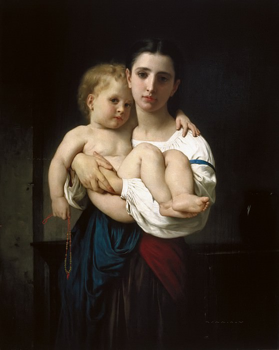 The Elder Sister, Adolphe William Bouguereau