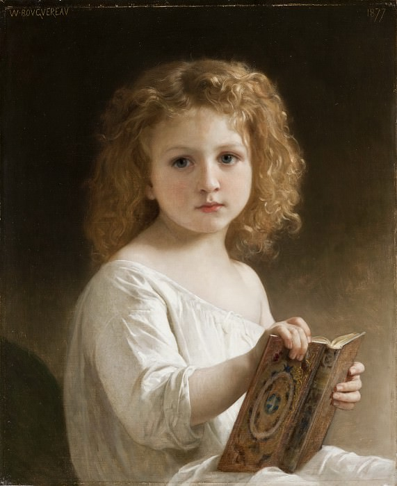 The Story Book, Adolphe William Bouguereau