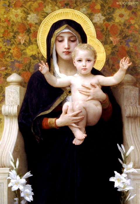 The Virgin of the Lilies, Adolphe William Bouguereau