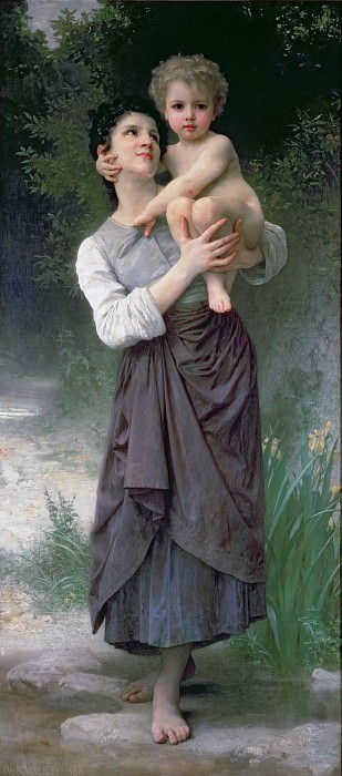 Mother and Child, Adolphe William Bouguereau