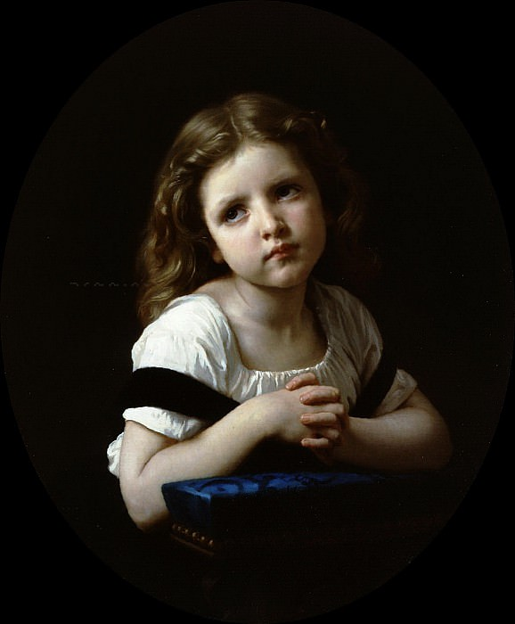 The Prayer, Adolphe William Bouguereau