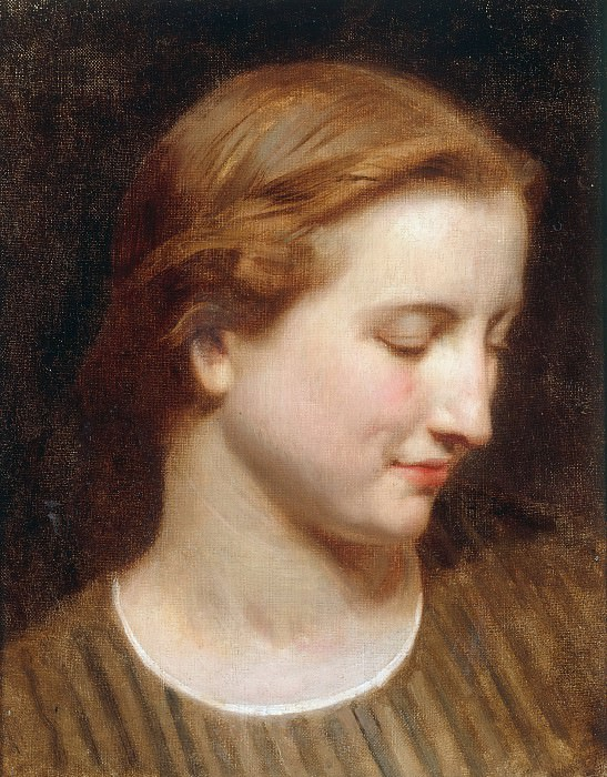 Head study of a woman, Adolphe William Bouguereau