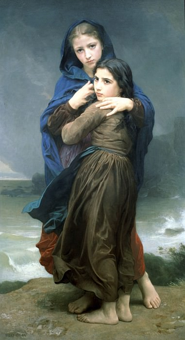 The storm, Adolphe William Bouguereau