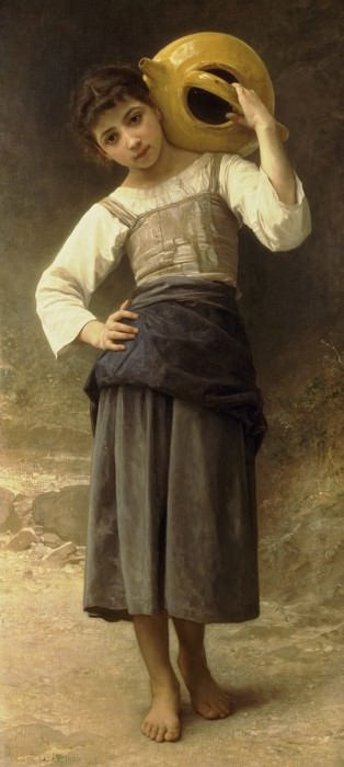 Girl Going to the Fountain, Adolphe William Bouguereau