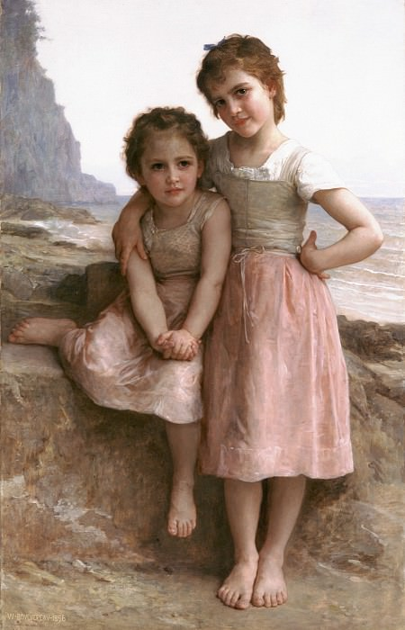 On the Rocky Beach, Adolphe William Bouguereau