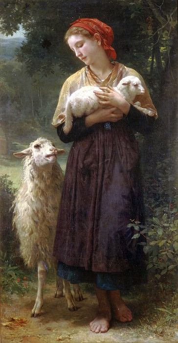 The Shepherdess, Adolphe William Bouguereau