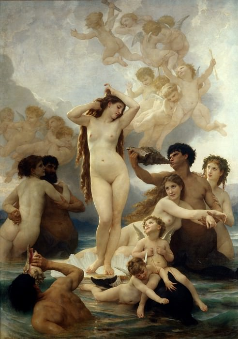 Birth of Venus, Adolphe William Bouguereau
