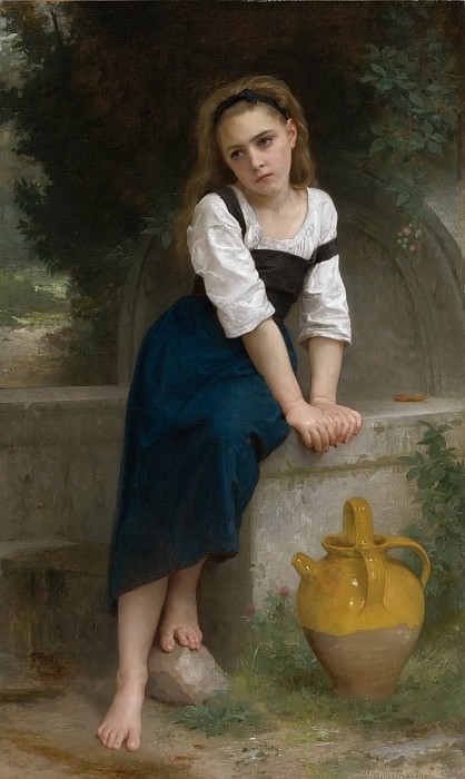 An orphan at the source, Adolphe William Bouguereau