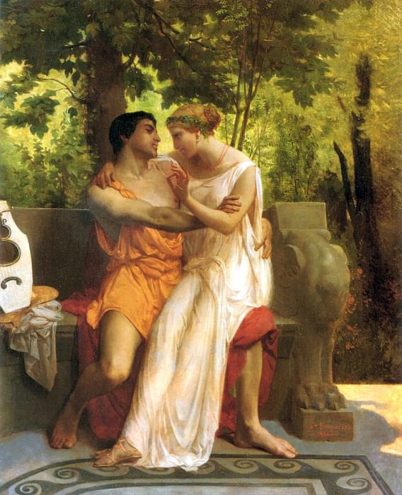 The idyll, Adolphe William Bouguereau
