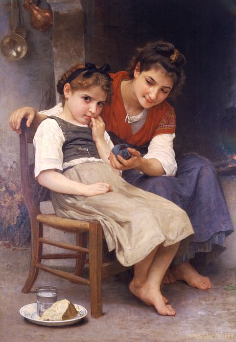 Petite boudeuse, Adolphe William Bouguereau