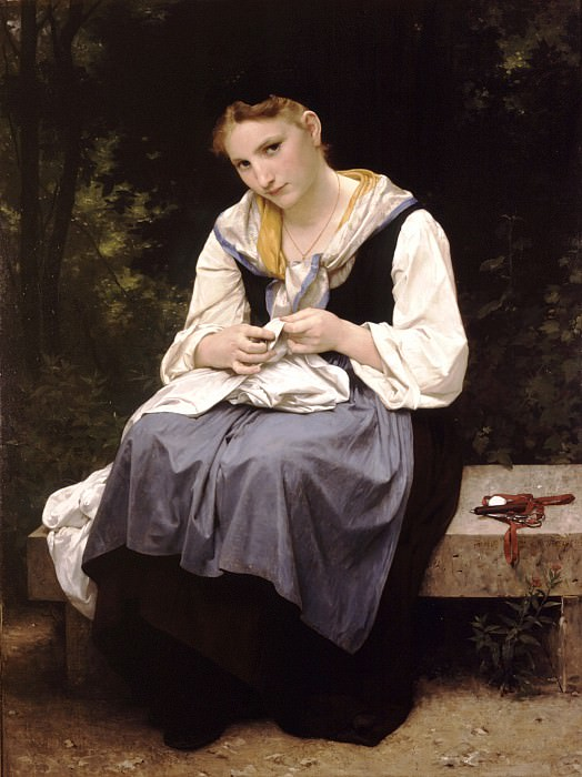 A young working woman, Adolphe William Bouguereau