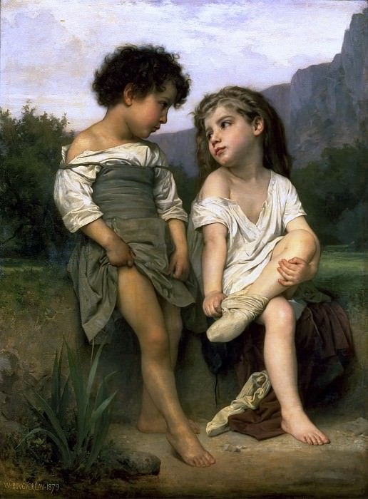Young Bathers, Adolphe William Bouguereau