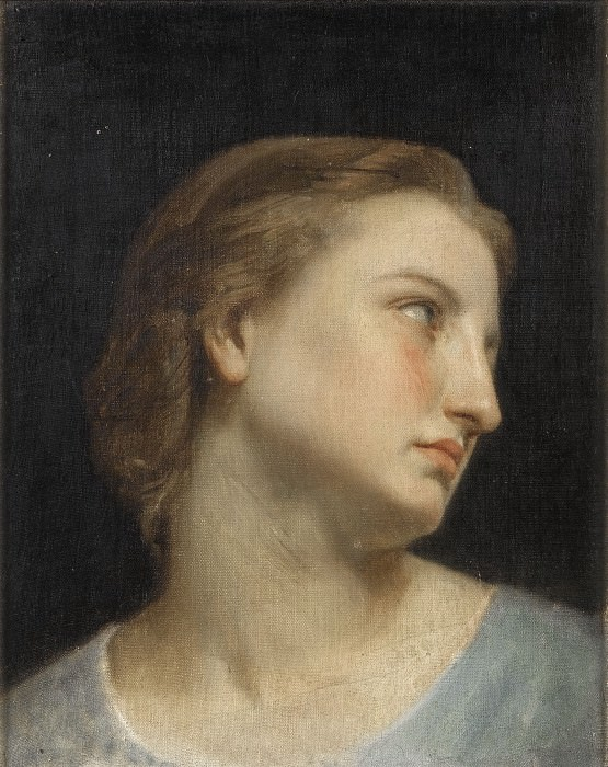 STUDY OF A WOMANS HEAD, Adolphe William Bouguereau
