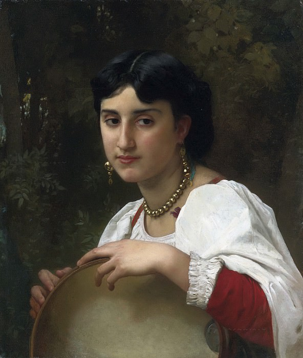 Italian with a tambourine, Adolphe William Bouguereau