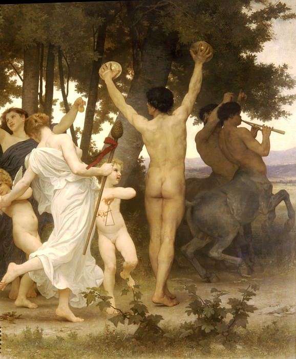 Youth of Bacchus fragment, Adolphe William Bouguereau