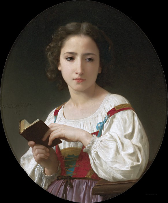 THE BOOK OF HOURS, Adolphe William Bouguereau