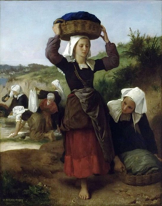 Washerwomen of Fouesnant, Adolphe William Bouguereau